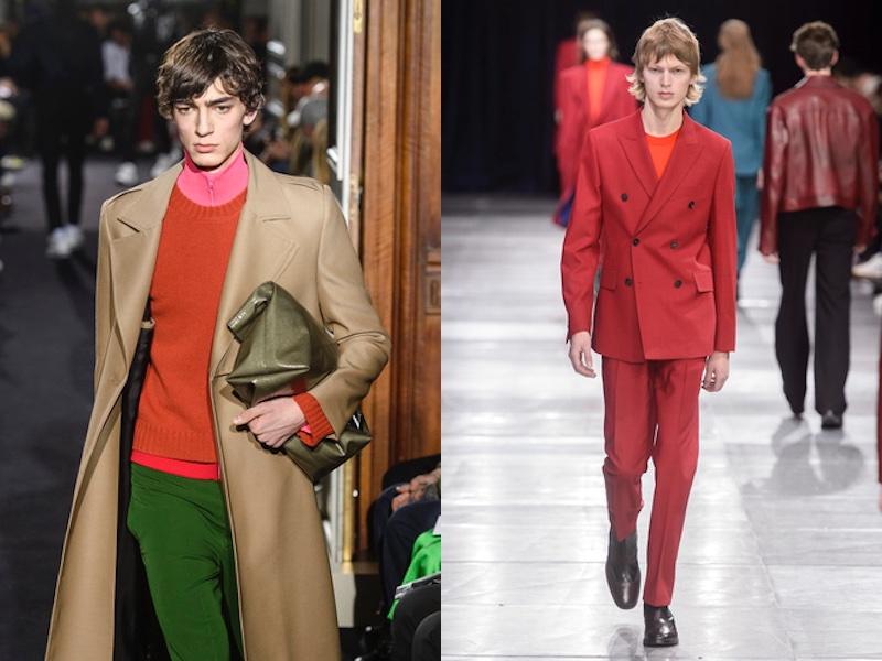 colori moda uomo autunno 2018-2019