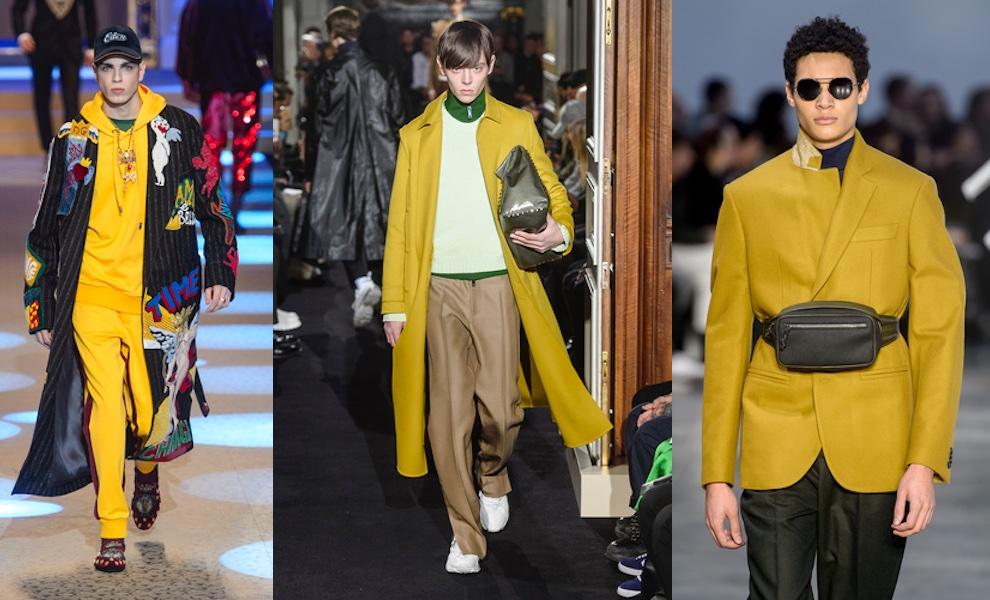 moda uomo inverno 2018-2019 colori