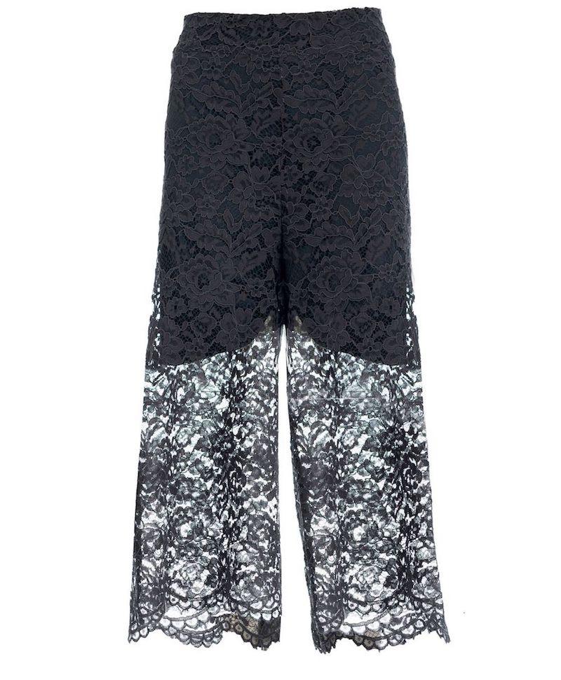 pantaloni oltre inverno 2018-2019-pizzo nero