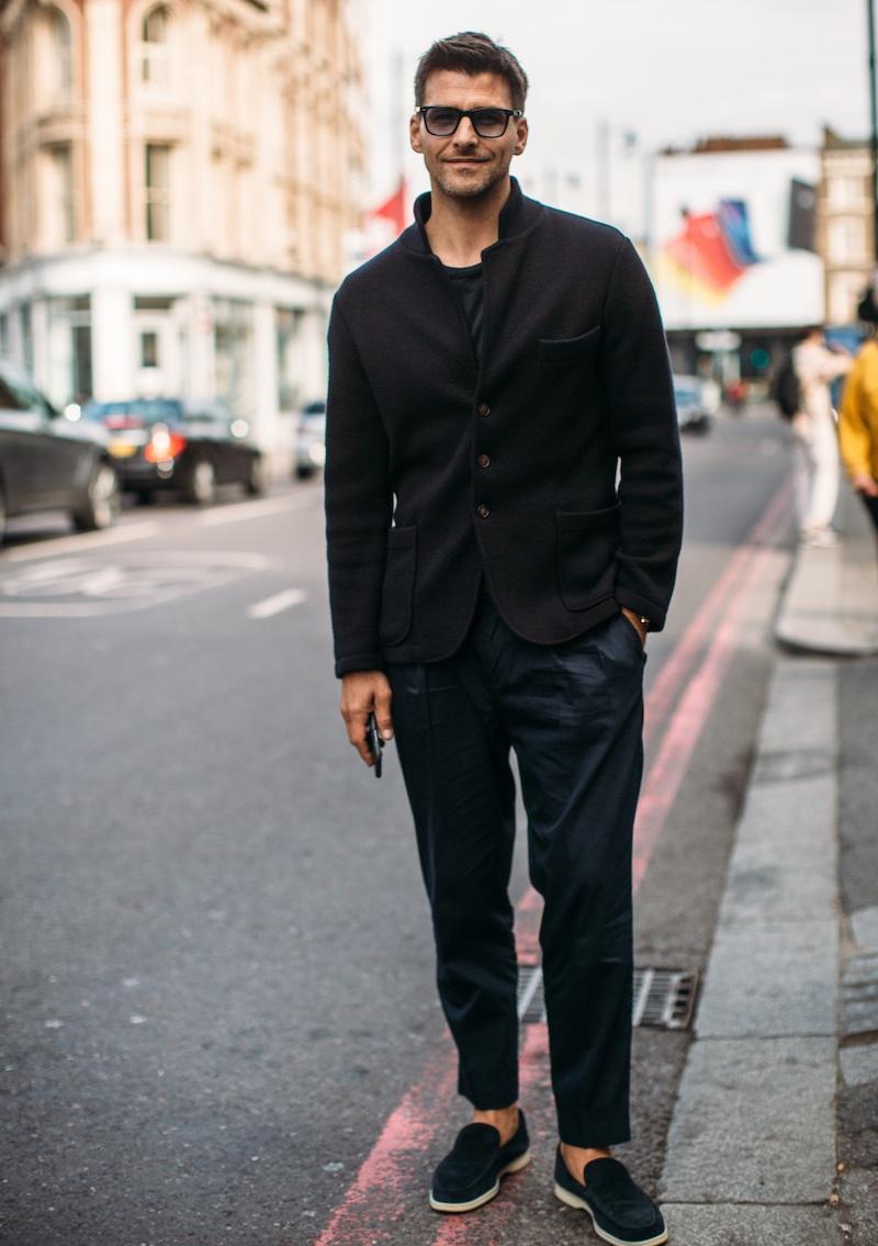 Johannes Huebl londra street style uomo estate 2019