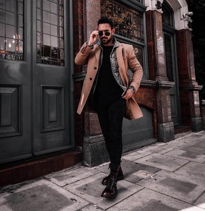 cappotto cammello abbinamenti moda uomo 2020