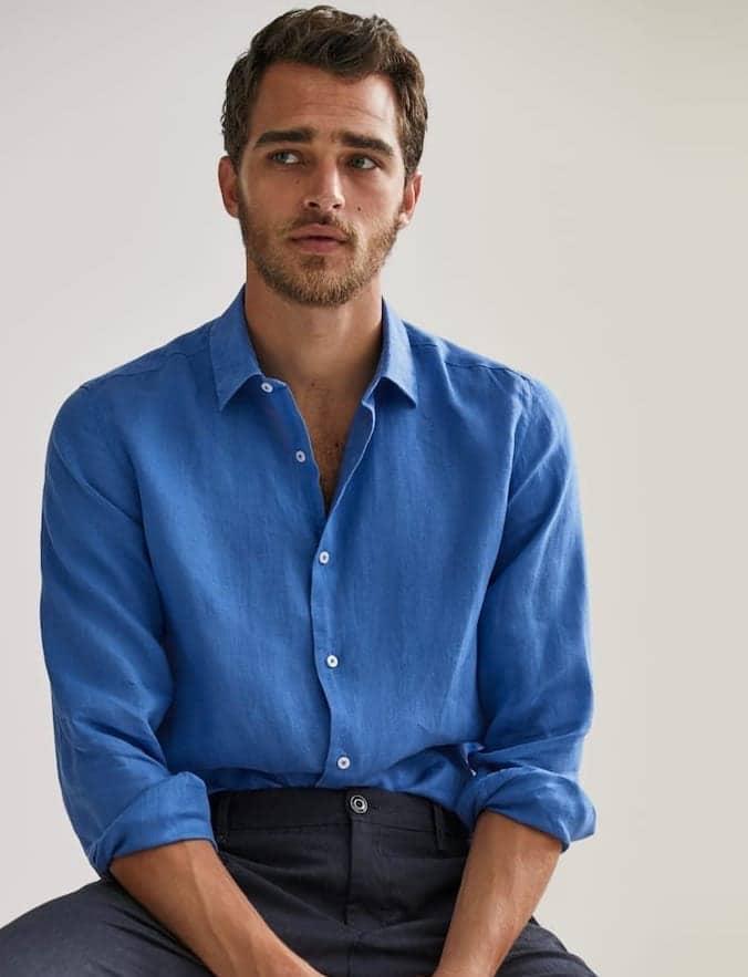 camicia blu massimo dutti uomo estate 2020